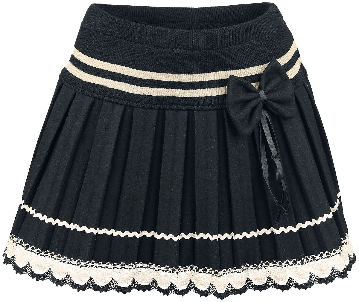 Image of   Innocent Bow Lace Mini Minikjole sort-hvid