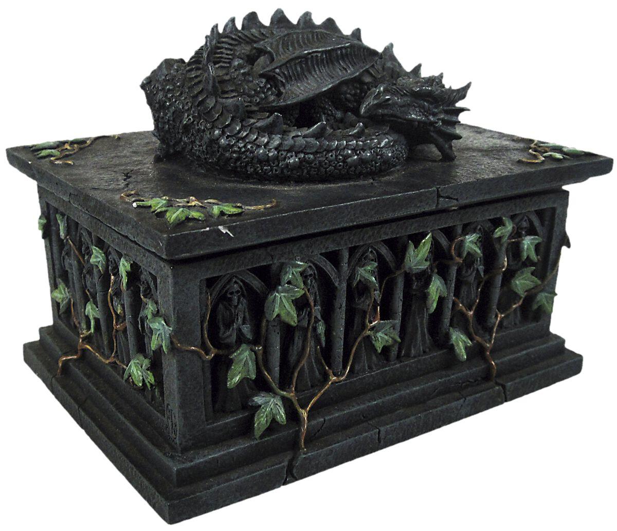 Image of   Nemesis Now Dragon Tarotkortboks Dekorationsartikel grå