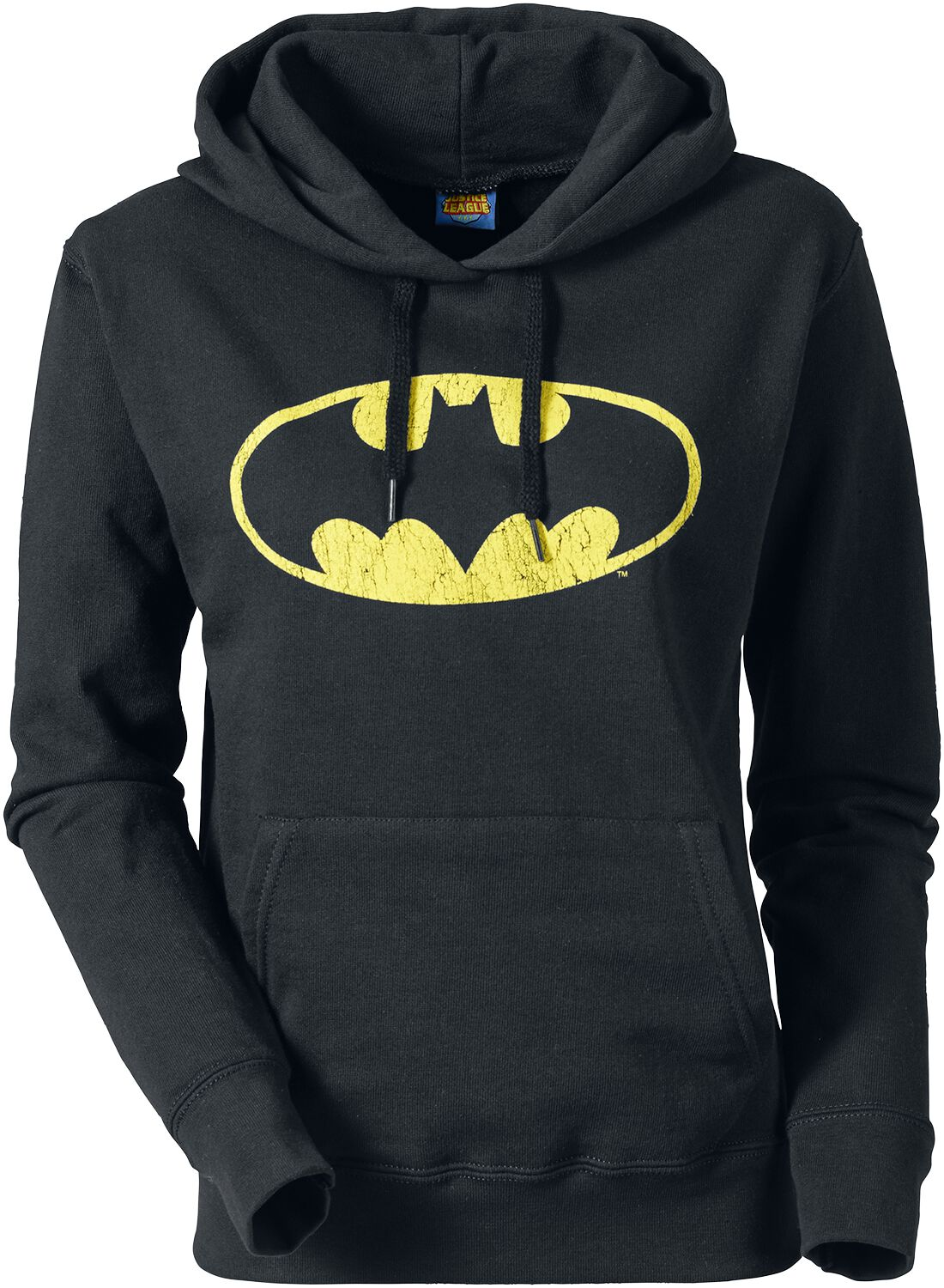 Image of   Batman Logo Girlie hættetrøje sort