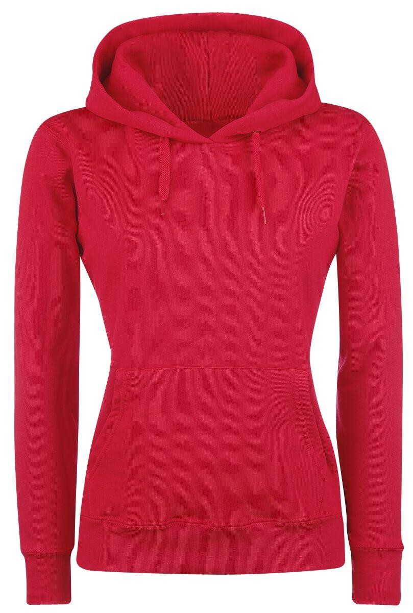 Basics - Bluzy z kapturem - Bluza z kapturem damska Fruit Of The Loom Lady-Fit Bluza z kapturem damska czerwony - 260839