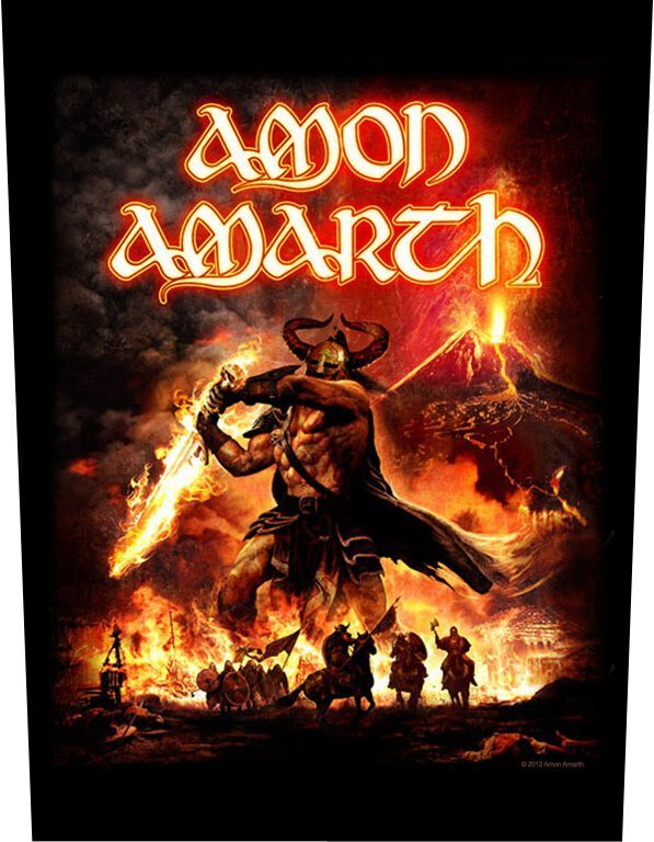 Image of   Amon Amarth Surtur Rising Rygmærke Standard