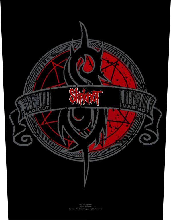 Image of   Slipknot Crest Rygmærke multifarvet