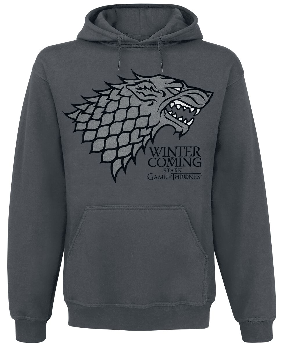 Image of   Game Of Thrones House Stark - Winter Is Coming Hættetrøje grå