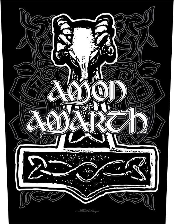 Image of   Amon Amarth Hammer Rygmærke Standard