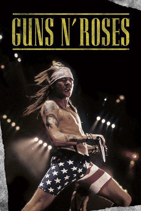 Image of   Guns N' Roses Shorts Plakat multifarvet