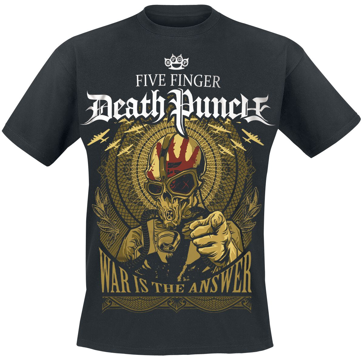 Image of   Five Finger Death Punch War Is The Answer T-Shirt sort
