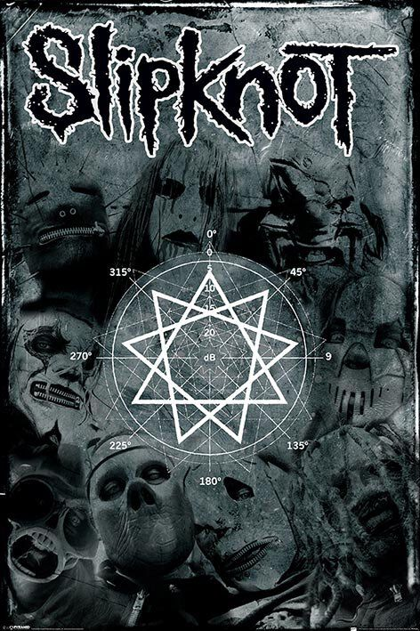 Image of   Slipknot pentagram Plakat Standard