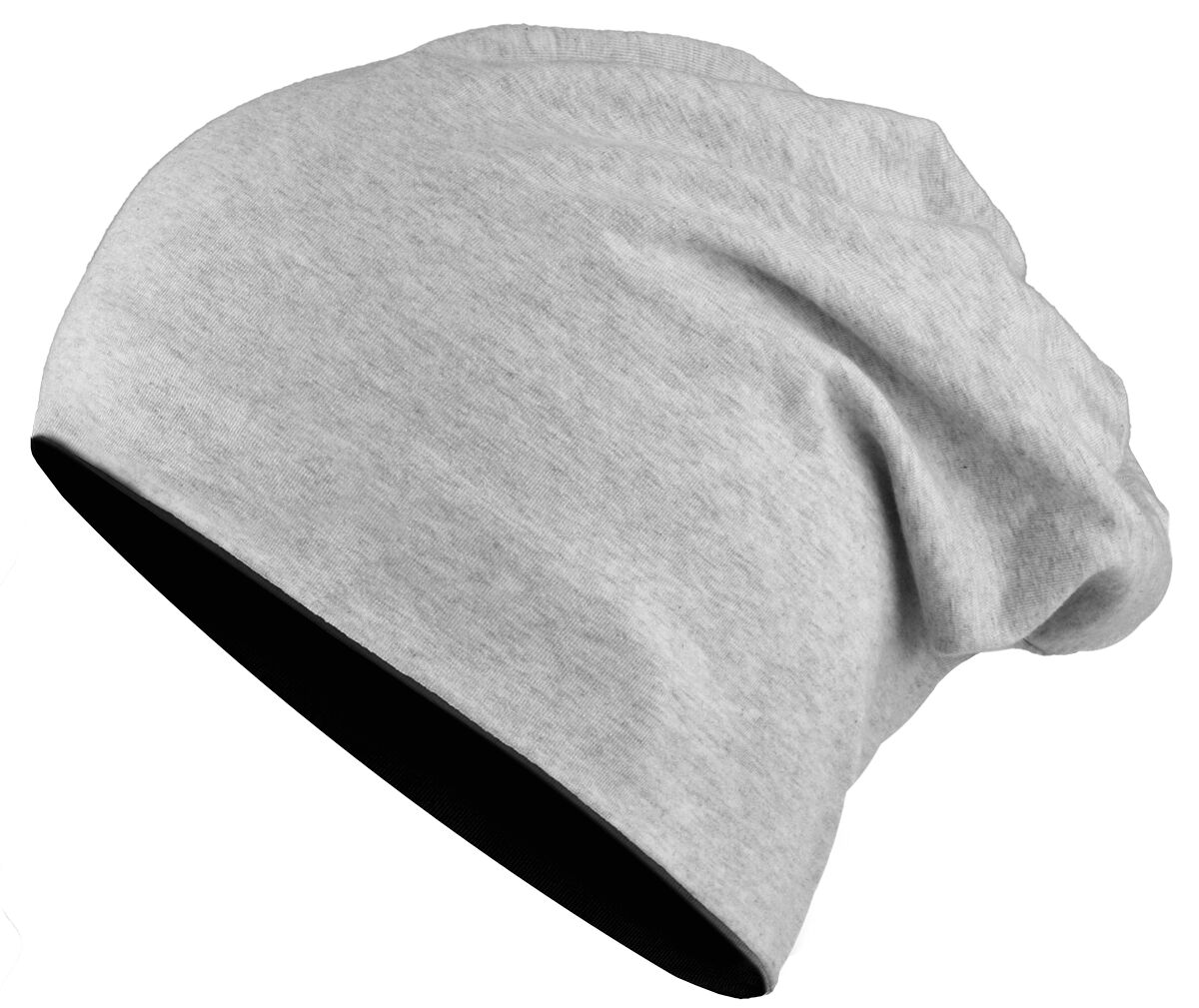 Image of   Urban Classics Reversible Jersey Beanie Beanie sort-grå