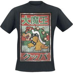 Super Mario Vintage Bowser T-shirt noir