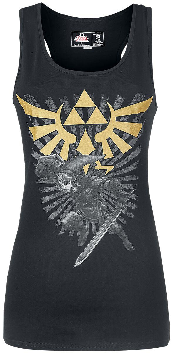 Image of   The Legend Of Zelda Triforce Link Girlie top sort