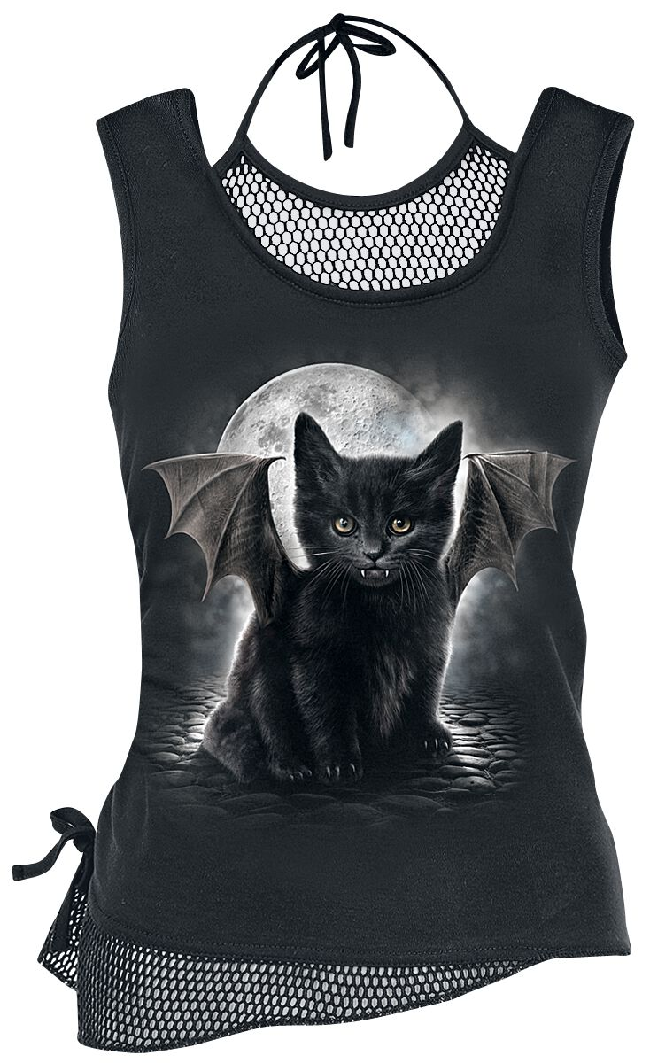 Image of   Spiral Bat Cat Girlie top sort