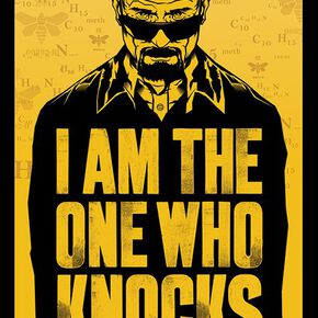 Breaking Bad I Am The One Who Knocks Poster multicolore