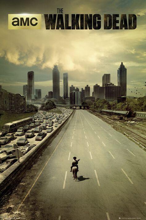 Image of   The Walking Dead City Plakat multifarvet