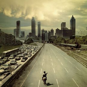 The Walking Dead City Poster multicolore