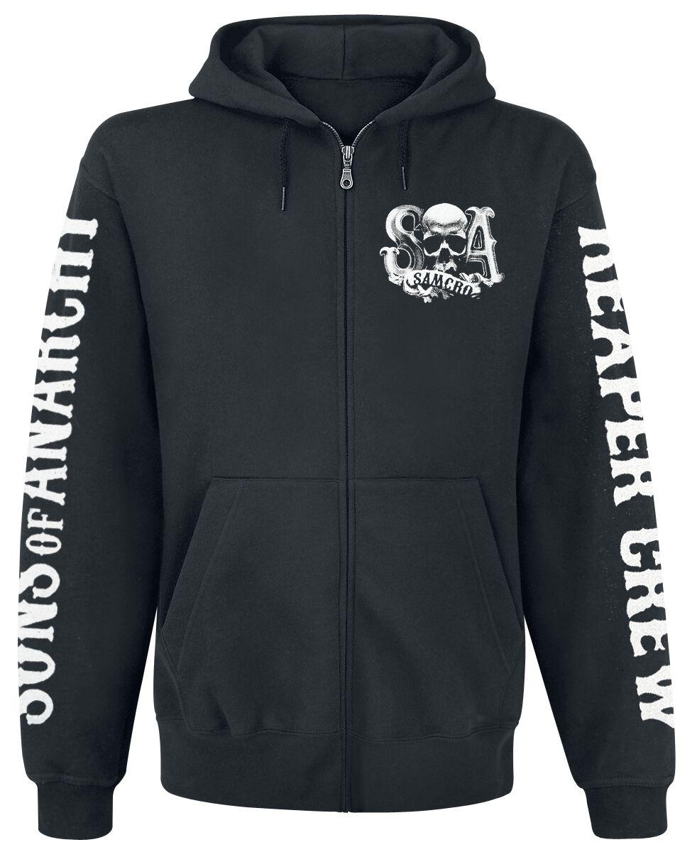 Merch dla Fanów - Bluzy z kapturem - Bluza z kapturem rozpinana Sons Of Anarchy Reaper Crew Bluza z kapturem rozpinana czarny - 267240
