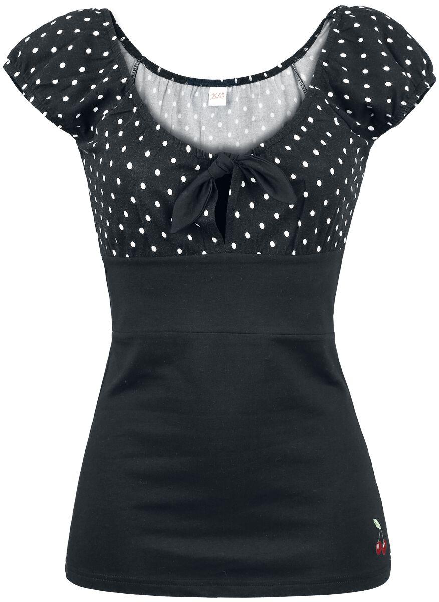 Marki - Koszulki - Koszulka damska Pussy Deluxe Dolly Dotties Shirt Koszulka damska czarny - 267834