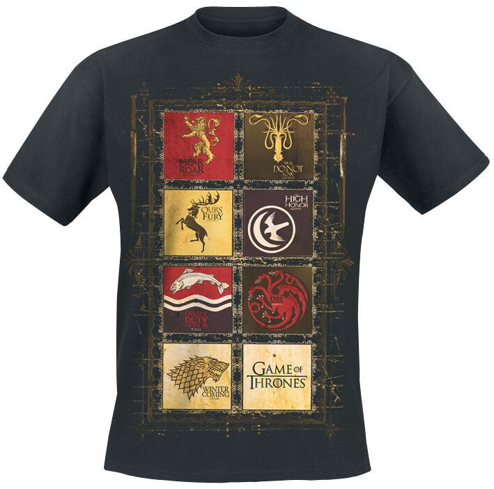 game of thrones logos t shirt schwarz ebay. Black Bedroom Furniture Sets. Home Design Ideas
