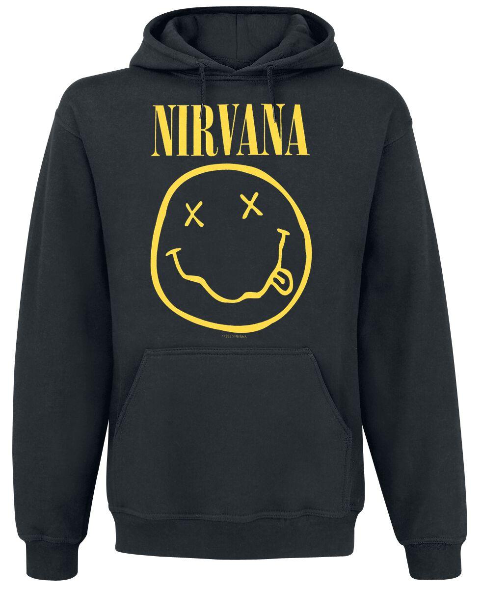 Zespoły - Bluzy z kapturem - Bluza z kapturem Nirvana Smiley Bluza z kapturem czarny - 268483