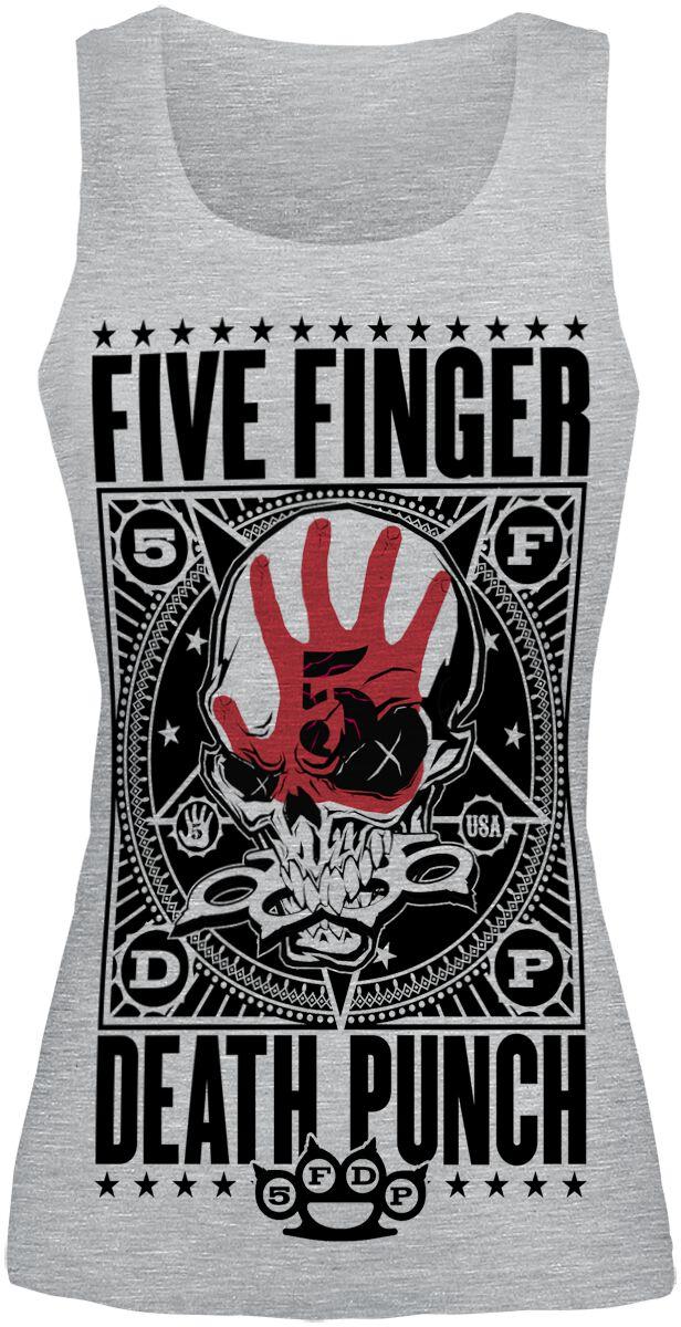 Image of   Five Finger Death Punch Punchagram Girlie top grålig