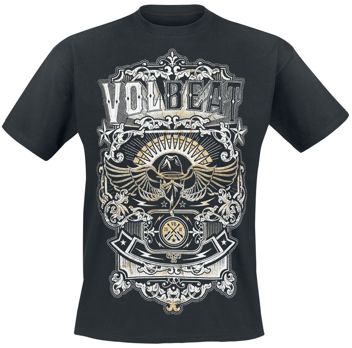 Image of   Volbeat Old Letters T-Shirt sort