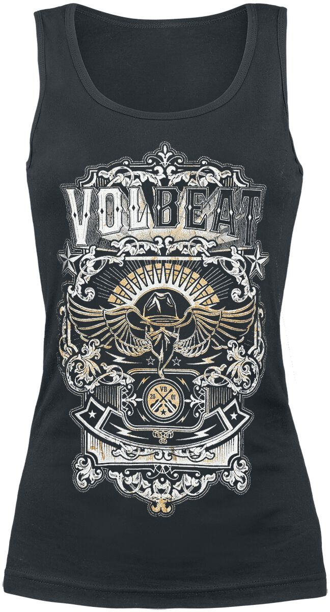 Image of   Volbeat Old Letters Girlie top sort