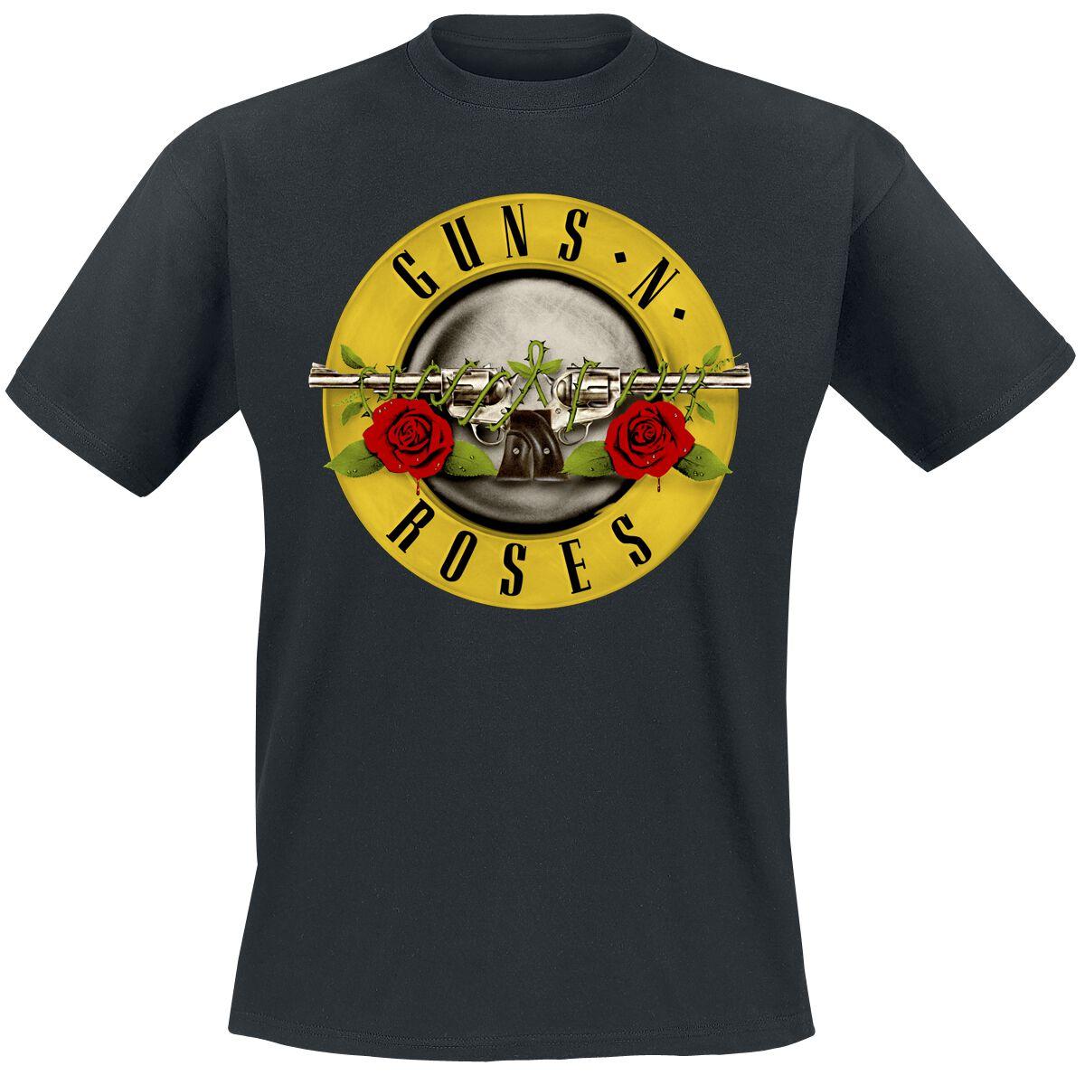Image of   Guns N' Roses Distressed Bullet T-Shirt sort