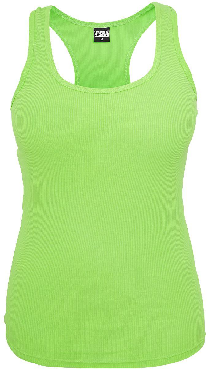 Ladies neon tanktop   urban classics   top   vrouwen   neon groen   100% katoen