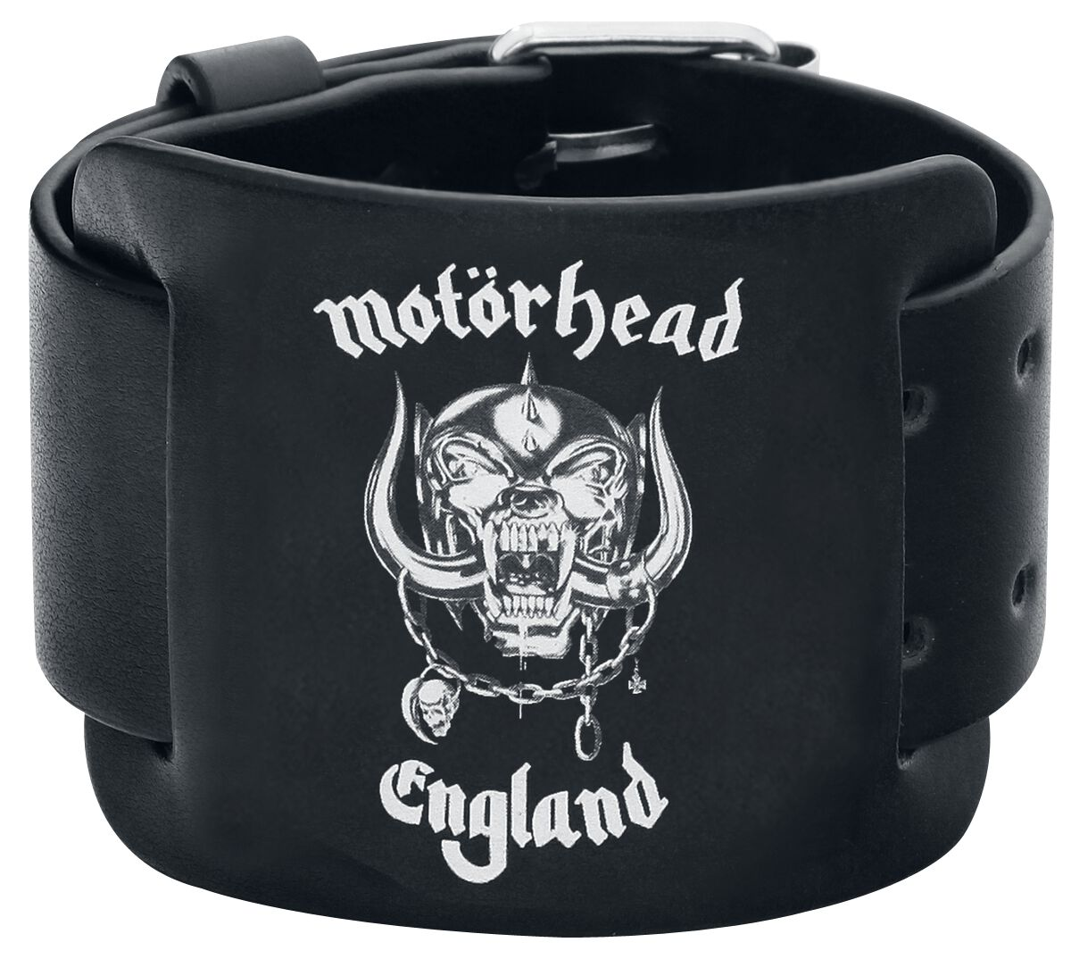 Image of   Motörhead England Læderarmbånd sort