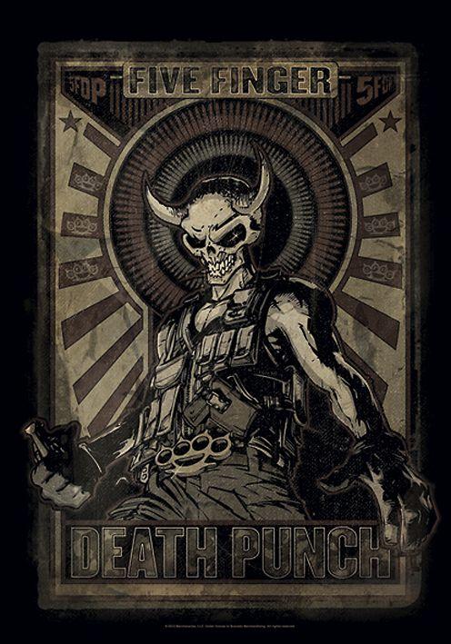 Image of   Five Finger Death Punch Mercenary Flag standard