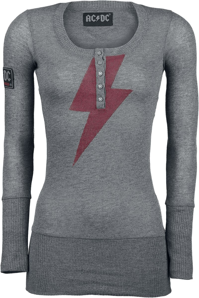Image of AC/DC Danger - High Voltage - Lady Thunder Felpa donna carbone