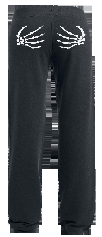 Grabbing Death Spodnie dresowe damskie czarny