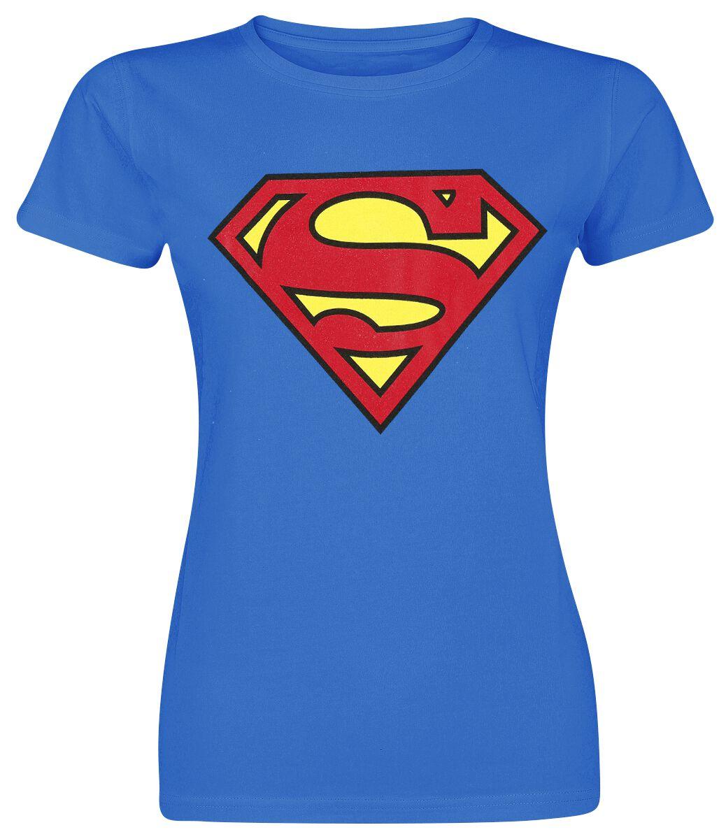 Merch dla Fanów - Koszulki - Koszulka damska Superman Logo Koszulka damska niebieski - 274708