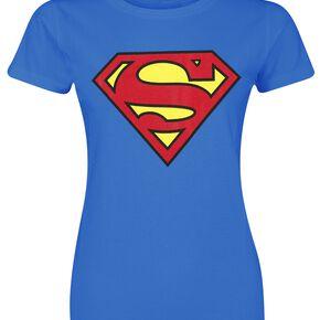 Superman Logo T-shirt Femme bleu