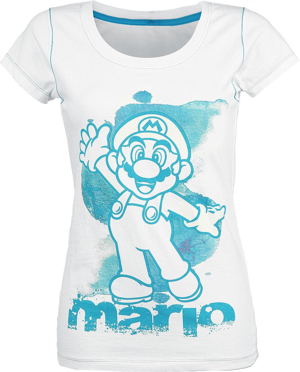 Image of   Super Mario Mario Girlie trøje hvid
