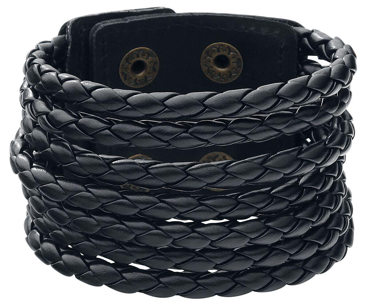Round Cord Leather Bracelet Lederarmband schwarz