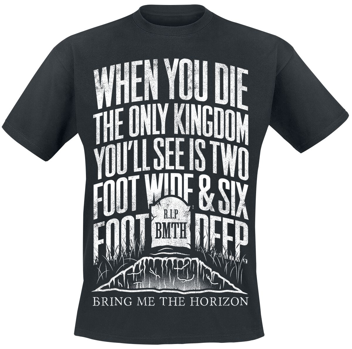 Image of   Bring Me The Horizon Grave T-Shirt sort