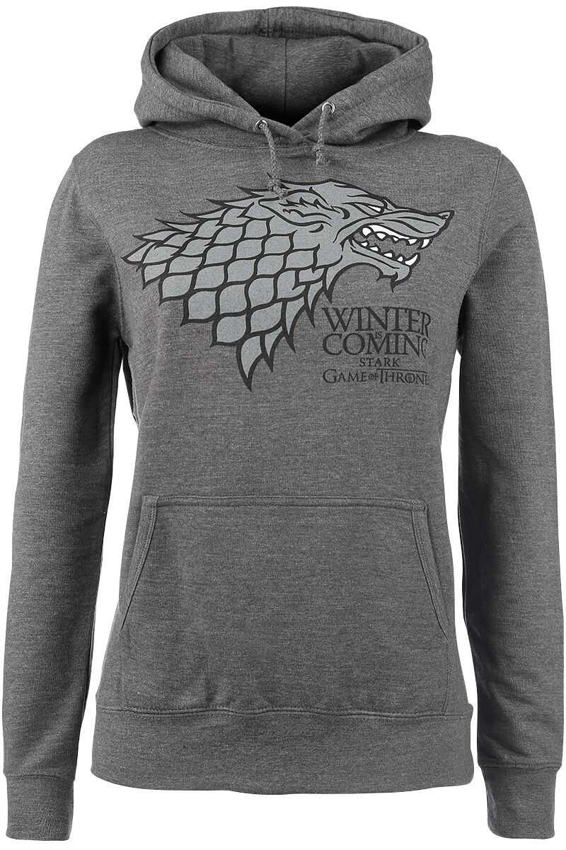 Image of   Game Of Thrones House Stark - Winter Is Coming Girlie hættetrøje grålig