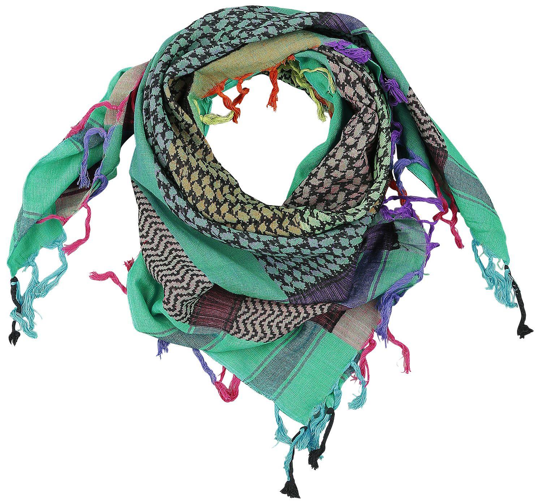 Image of   Palæstinensisk tørklæde Blå-grøn Halstørklæde multifarvet