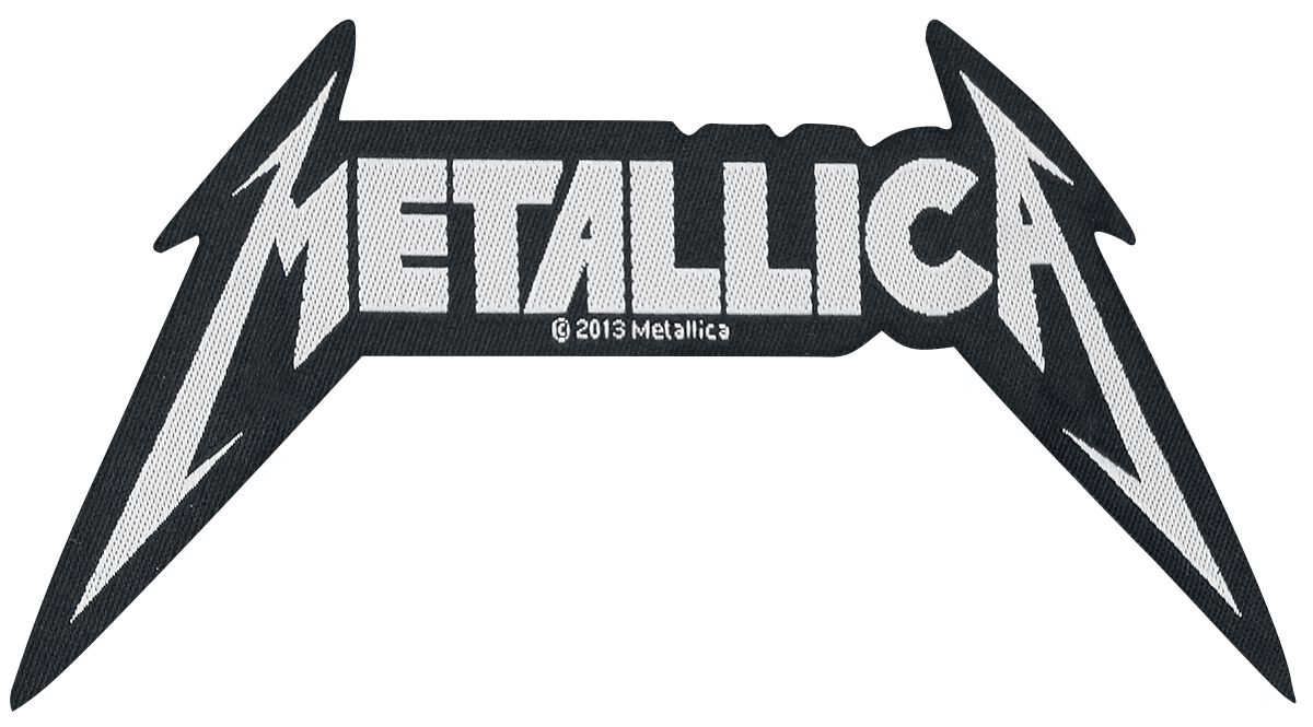 Metallica Shaped Logo Patch schwarz/weiß