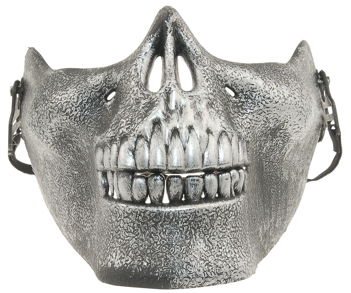 Fun & Trends - Maski i Kostiumy - Maska Warehouse 365 Skull Mask Maska srebrny - 280007