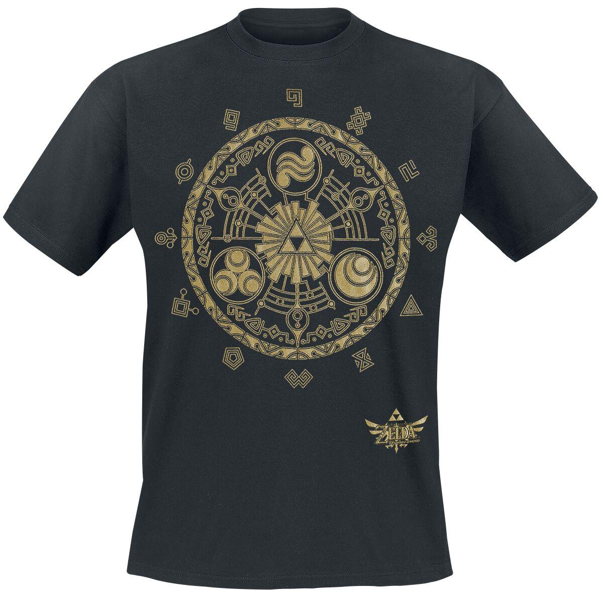Image of   The Legend Of Zelda Triforce Crest T-Shirt sort