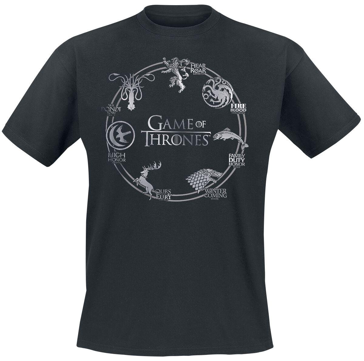 Image of   Game Of Thrones Circle Logo T-Shirt sort