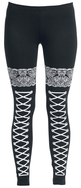 Basics - Spodnie długie - Legginsy Fashion Victim Corded Look Legginsy czarny - 281029