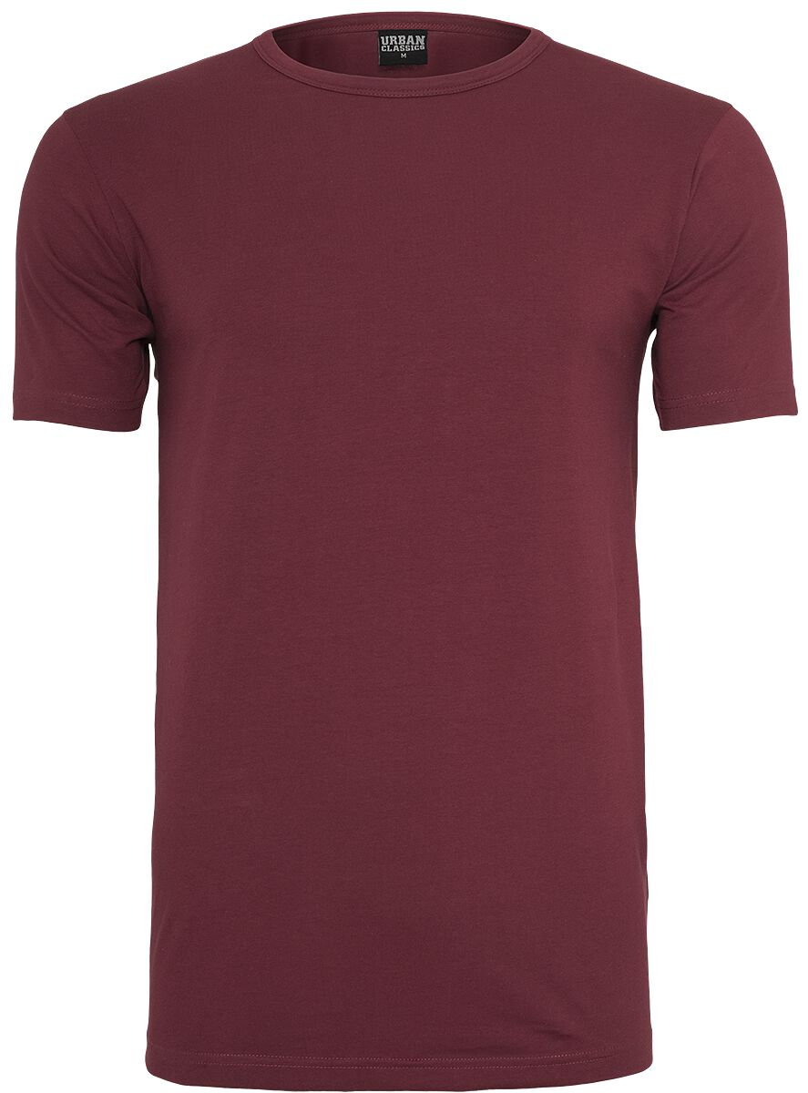 Image of   Urban Classics Fitted Stretch Tee T-Shirt burgundy