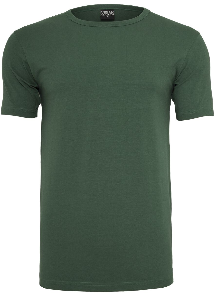 Image of   Urban Classics Fitted Stretch Tee T-Shirt mørk grøn