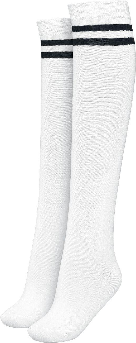 Socken für Frauen - Urban Classics Ladies College Socks Socken weiß schwarz  - Onlineshop EMP