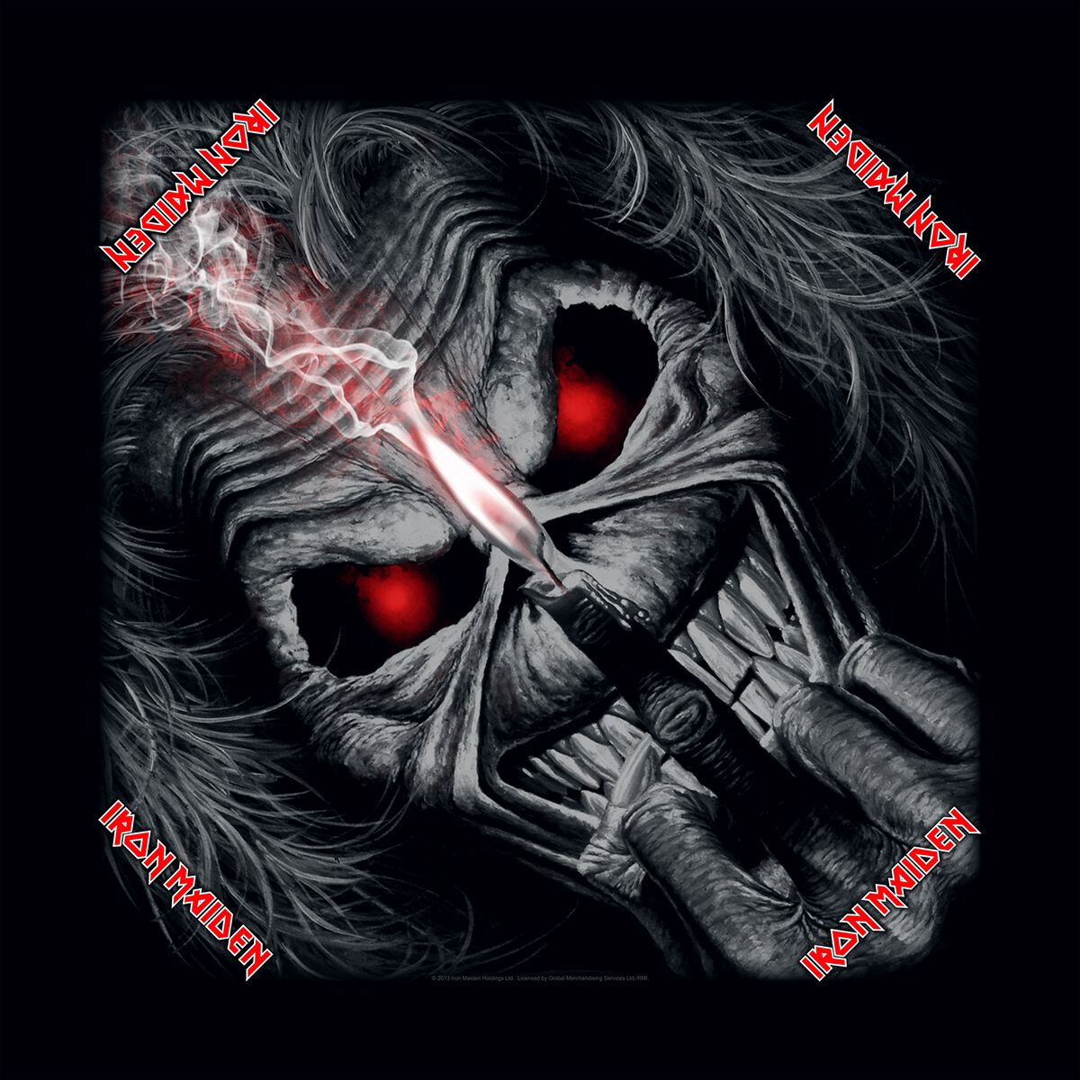 Image of   Iron Maiden Eddie Candle Finger Bandana sort