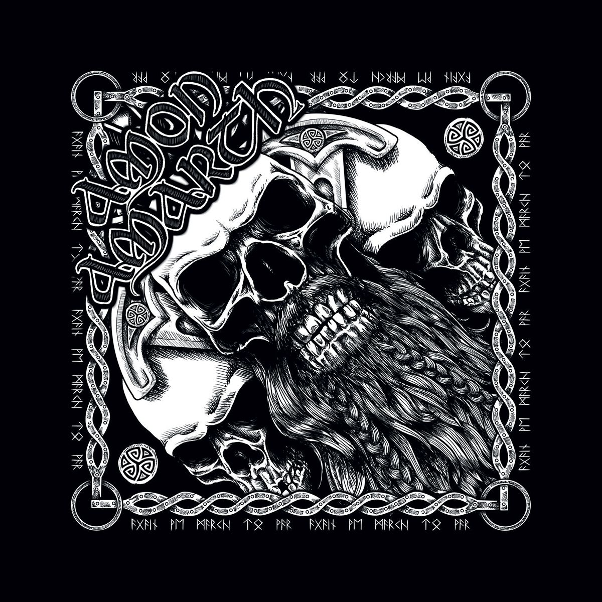 Image of   Amon Amarth Skull Bandana sort