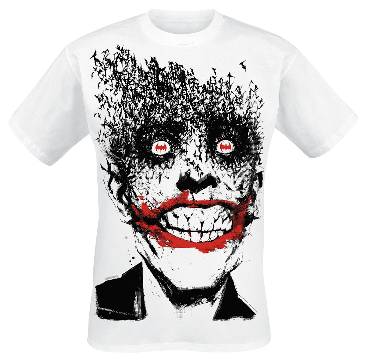 Merch dla Fanów - Koszulki - T-Shirt The Joker Smile T-Shirt biały - 283579