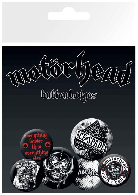 Image of   Motörhead Aces Badgepakke multifarvet